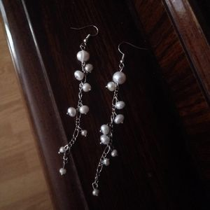 Natural Sea shells threaded earring  Large earring